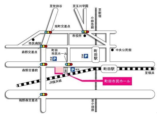地図-町田市民ホール